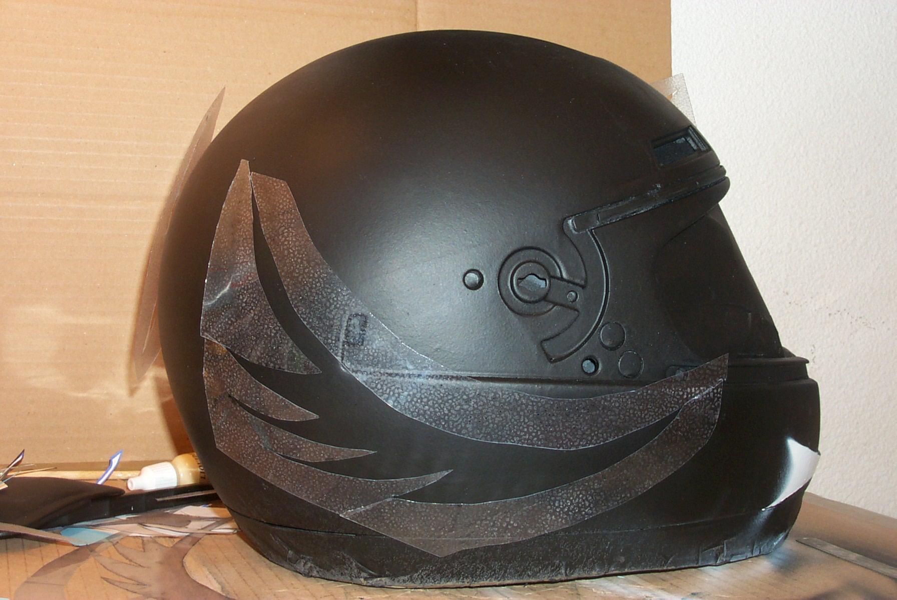 Tuning casque de moto les cr ations de sorsha - Temps de sechage peinture auto avant vernis ...
